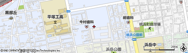 神奈川県平塚市黒部丘周辺の地図