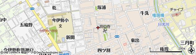 愛知県一宮市今伊勢町本神戸(目久井)周辺の地図
