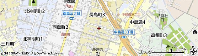 愛知県一宮市長島町周辺の地図