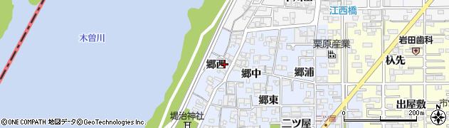 愛知県一宮市小信中島(郷西)周辺の地図