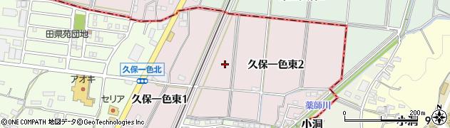 愛知県小牧市久保一色東周辺の地図