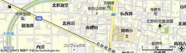 愛知県一宮市開明(南新田)周辺の地図