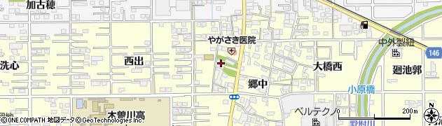 伝来寺周辺の地図