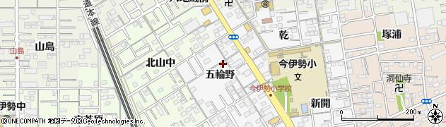 愛知県一宮市今伊勢町新神戸(五輪野)周辺の地図