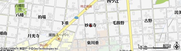愛知県一宮市時之島(妙光寺)周辺の地図