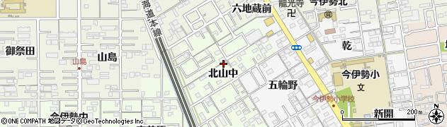 愛知県一宮市今伊勢町宮後(北山中)周辺の地図