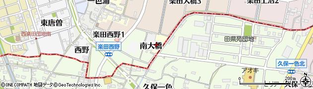 愛知県犬山市南大橋周辺の地図