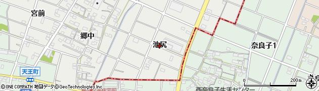 愛知県江南市安良町(池尻)周辺の地図