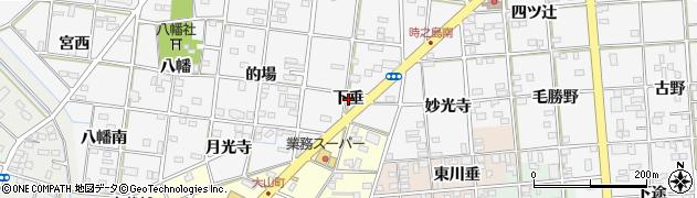 愛知県一宮市時之島(下垂)周辺の地図