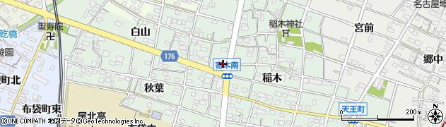 愛知県江南市寄木町周辺の地図
