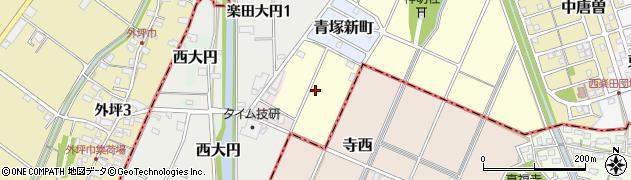 愛知県犬山市楽田青塚周辺の地図