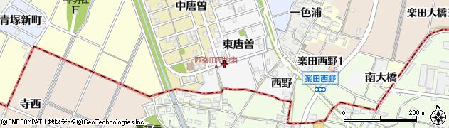 愛知県犬山市東唐曽周辺の地図