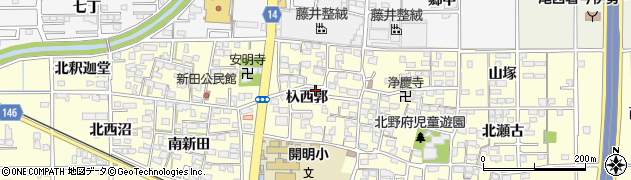 愛知県一宮市開明(杁西郭)周辺の地図