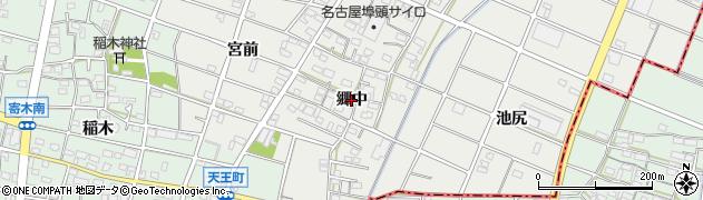 愛知県江南市安良町(郷中)周辺の地図