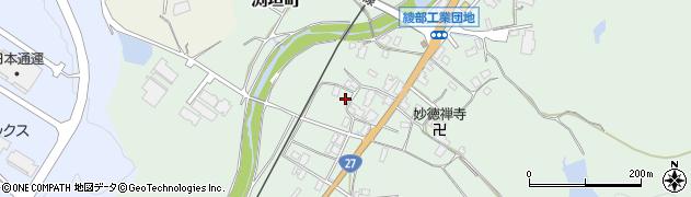 京都府綾部市渕垣町(薮下)周辺の地図