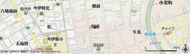 愛知県一宮市今伊勢町本神戸(塚浦)周辺の地図