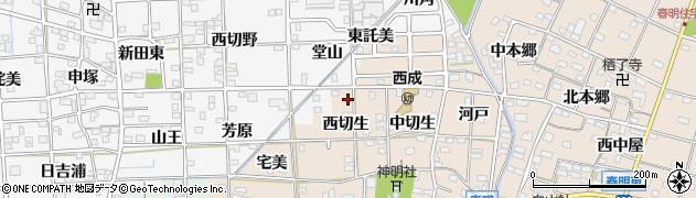 愛知県一宮市春明(西切生)周辺の地図