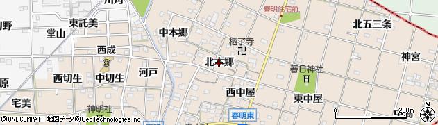 愛知県一宮市春明(北本郷)周辺の地図