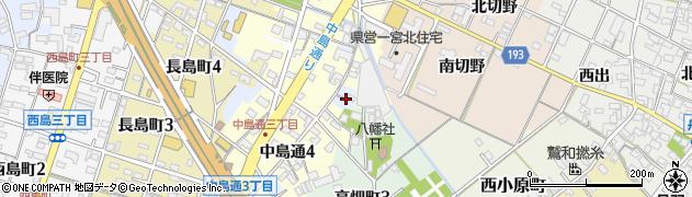 愛知県一宮市一宮(八幡裏)周辺の地図