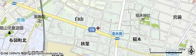 愛知県江南市寄木町(白山)周辺の地図