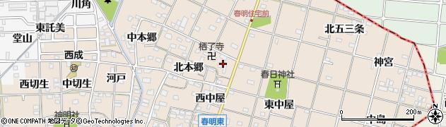 愛知県一宮市春明(南柳原)周辺の地図