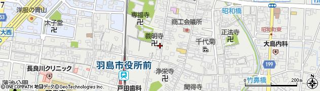 岐阜県羽島市竹鼻町周辺の地図