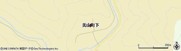 京都府南丹市美山町下周辺の地図
