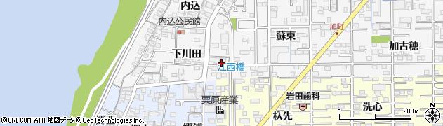 愛知県一宮市奥町(六西風田)周辺の地図
