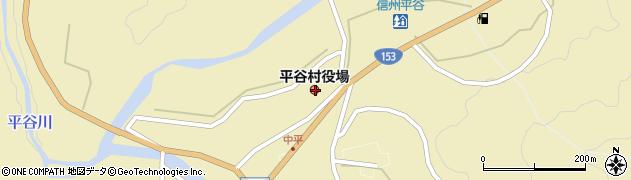 長野県下伊那郡平谷村周辺の地図
