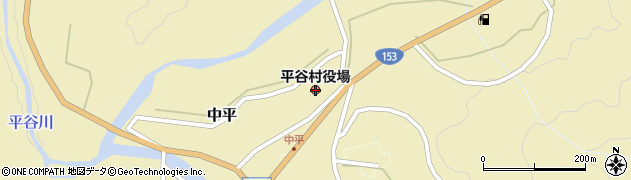 長野県平谷村(下伊那郡)周辺の地図