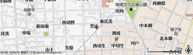 愛知県一宮市時之島(堂山)周辺の地図