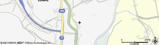 京都府綾部市有岡町(岩鼻)周辺の地図