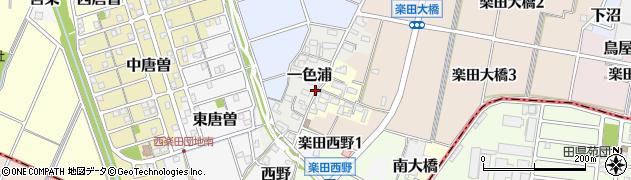 愛知県犬山市一色浦周辺の地図