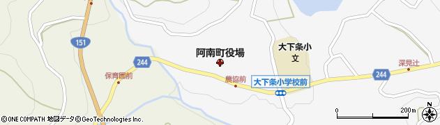 長野県阿南町(下伊那郡)周辺の地図