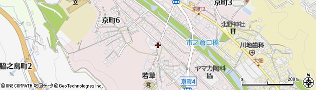 岐阜県多治見市京町周辺の地図