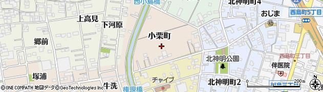 愛知県一宮市小栗町周辺の地図