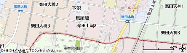 愛知県犬山市楽田上沼周辺の地図