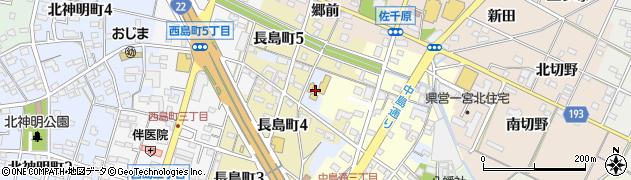 愛知県一宮市一宮(中島裏)周辺の地図