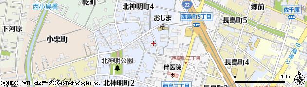 愛知県一宮市一宮(西小島)周辺の地図