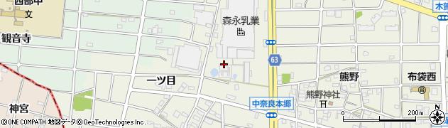 愛知県江南市中奈良町(一ツ目)周辺の地図