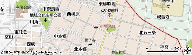 愛知県一宮市春明(東柳原)周辺の地図
