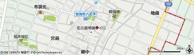 愛知県江南市安良町周辺の地図