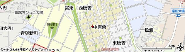 愛知県犬山市中唐曽周辺の地図