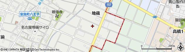 愛知県江南市安良町(地蔵)周辺の地図