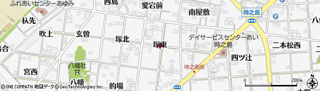 愛知県一宮市時之島(塚東)周辺の地図