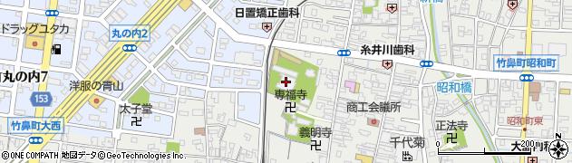 竹鼻別院周辺の地図