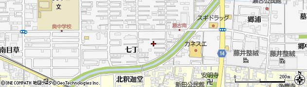 愛知県一宮市奥町(七丁)周辺の地図