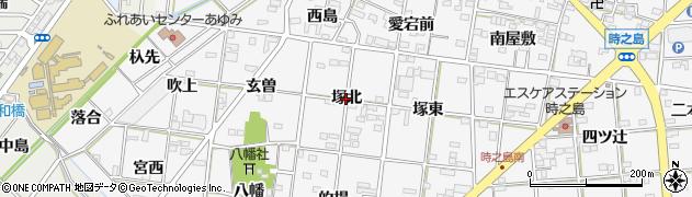 愛知県一宮市時之島(塚北)周辺の地図