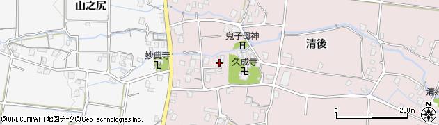 静岡県御殿場市清後周辺の地図