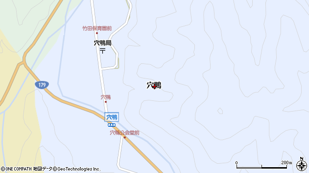 〒682-0303 鳥取県東伯郡三朝町穴鴨の地図